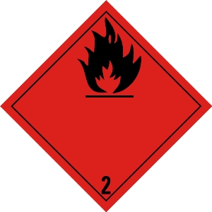 Flammable gas 2 zonder tekst