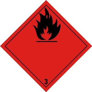 Flammable liquid 3 zonder tekst